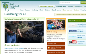 Preview 2 of the Royal Horticultural Society website