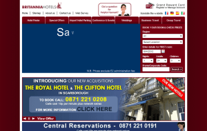 Preview 2 of the Britannia Hotels website