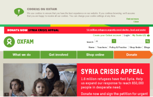 Preview 3 of the Oxfam Shop website
