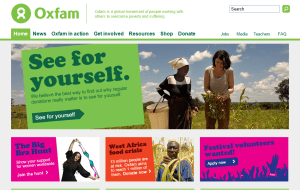 Preview 2 of the Oxfam Shop website