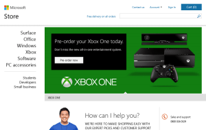 Preview 3 of the Microsoft Store website