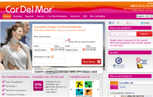 Preview 3 of the Car Del Mar website