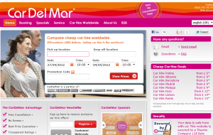 Preview 2 of the Car Del Mar website