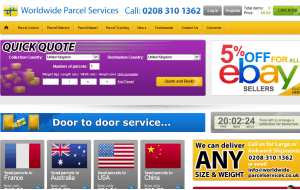 Preview 3 of the Worldwide Parcel Services website