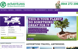 Preview 2 of the G Adventures website