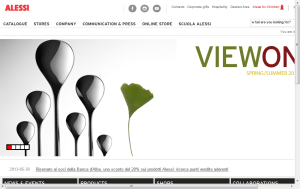 Preview 3 of the Alessi website