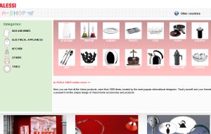 Preview 2 of the Alessi website
