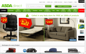 Preview 2 of the ASDA Direct website