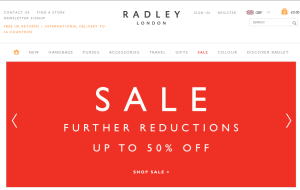 Preview 3 of the Radley website