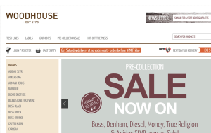 Preview 2 of the Woodhouse Clothing website