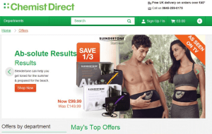 Preview 2 of the Chemist Direct website