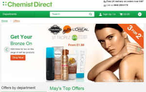 Preview 3 of the Chemist Direct website