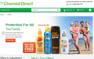 Preview 4 of the Chemist Direct website