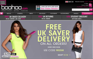 Preview 3 of the boohoo website