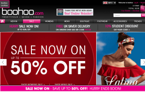 Preview 4 of the boohoo website