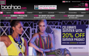Preview 5 of the boohoo website