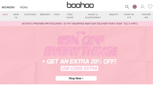 Preview 2 of the boohoo website