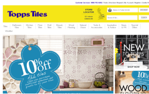 Preview 2 of the Topps Tiles website