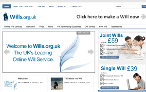 Preview 3 of the Wills.org.uk website