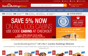 Preview 4 of the Garden Buildings Direct website