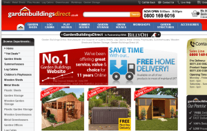 Preview 2 of the Garden Buildings Direct website