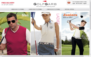 Preview 3 of the GolfGarb website