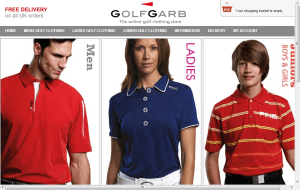 Preview 2 of the GolfGarb website