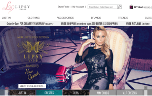 Preview 3 of the Lipsy website