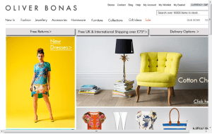 Preview 3 of the Oliver Bonas website