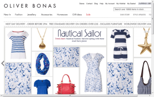 Preview 2 of the Oliver Bonas website