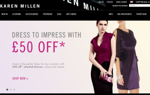 Preview 2 of the Karen Millen website