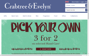 Preview 2 of the Crabtree & Evelyn website