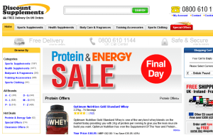 Preview 3 of the Discount Supplements website
