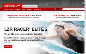 Preview 3 of the Speedo website