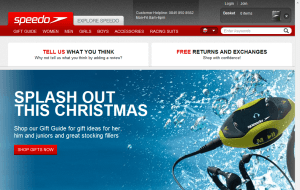 Preview 2 of the Speedo website