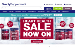 Preview 2 of the Simply Supplements website