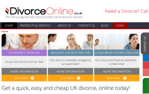 Preview 3 of the Divorce Online website