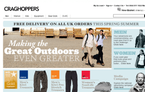 Preview 2 of the Craghoppers website
