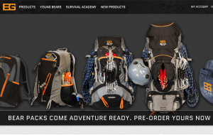 Preview 2 of the Bear Grylls website