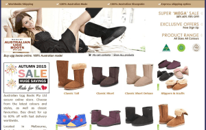 Preview 2 of the UGG Boots website
