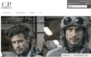 Preview 3 of the CP Company website