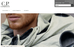Preview 2 of the CP Company website