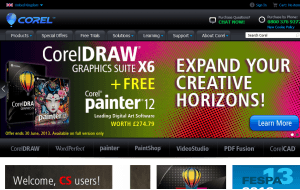Preview 3 of the Corel website