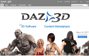 Preview 3 of the DAZ 3D website