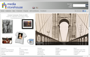 Preview 2 of the Media Storehouse website