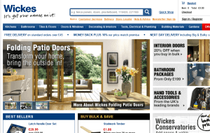 Preview 2 of the Wickes Bathrooms website