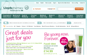 Preview 3 of the Lloyds Pharmacy website