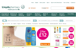 Preview 4 of the Lloyds Pharmacy website