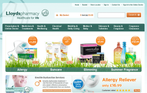 Preview 2 of the Lloyds Pharmacy website
