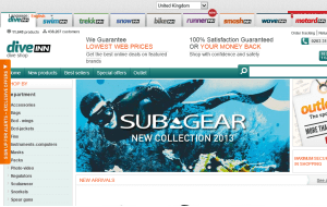 Preview 3 of the Scuba Store website